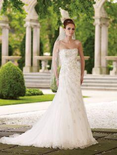 Romance Lace A Line Wedding Dress