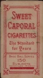1909-11 The American Tobacco Company T206 White Border #496 Heinie Wagner (Bat On Right Shoulder) Back