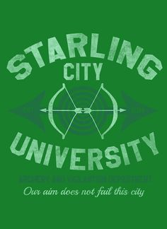 STARLING CITY UNIVERSITY T-Shirt - Green Arrow T-Shirt is $12.99 today at Pop Up Tee!