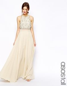 My dress for Mae's wedding ASOS Embellished Crop Top Maxi Dress