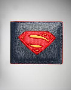 Superman 'Man of Steel' Logo Bifold Wallet