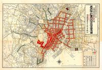 Fire prevention district plan, Home Ministry (1925). Image source: Tokyo Institute for Municipal Re-search - ZOOM