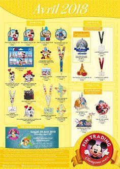 b2fe5163bf503 Disney Fan Collector  Pins Disney de abril para Disneyland París