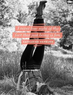 5 Quotes & 1 Video via the Original Hipster Feminist: Katharine Hepburn. | elephant journal