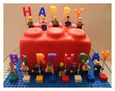 Happy Birthday LEGO cake