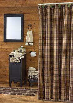 "Lake & Lodge Decor - ""Bear Country"" Bath Collection - Plaid Shower Cotton - Cotton Shower Curtain Kensington http://www.amazon.com/dp/B00JZZJAUM/ref=cm_sw_r_pi_dp_OmJ7ub09DNEW5"