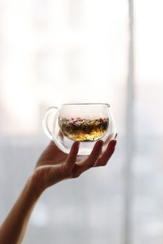 The Spring Tonic Tea, blend of Calendula flowers, lemon verbena, rose petal, chamomile flowers, nettles, rosehips & red clover. [Marble & Milkweed | Yoke Quarterly]