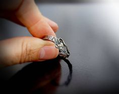 Items similar to Sterling Silver Ring large ring with twisted willow twine vine style- Size W - hand wrought by Adamson Jewellery on Etsy Slave Bracelet, Neo Victorian, Natural Forms, Hair Piece, Statement Rings, Anklet, Twine, Sterling Silver Rings, Chokers