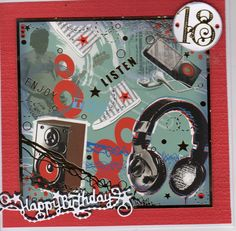 18th Birthday card using Hunkydory topper on 7x7 cardTattered lace numbers and sentiment which has a drop shadow.