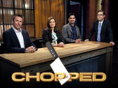 "Food Network's Chopped. I love how Ted tries to talk to the cooks, it doesn't really work out :) ""I see your making salad. Do you hope to win with this dish?"" >:("