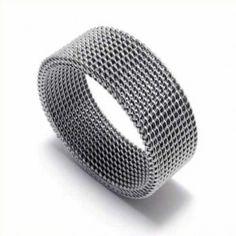 Meshed Unisex Titanium Width: Titanium RingQuantity: one pieceWe bring you the best quality Rings. Titanium Jewelry, Titanium Rings, Textiles, Jewellery Uk, Mesh, Wedding Ideas, Unisex, Knots, Cornrows