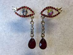 Jewelled Eye Dangle Plugs Handmade Wedding by GaugesPlugsTunnels, $32.00
