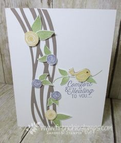 Stampin' Up! Swirly Bird and Swirly Scribble for Sympathy