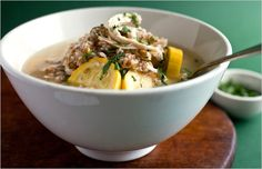 Recipes for Health - Chicken Soup With Bulgur and Yellow Squash - NYTimes.com.  Made last night -- simple and delicious!