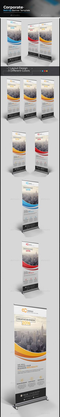 The Business Roll-up Banner Template Vector EPS, AI. Download here: http://graphicriver.net/item/the-business-rollup-banner/14603819?ref=ksioks