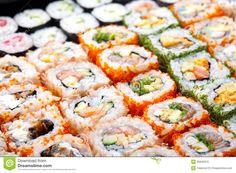 Japanese Sushi Rolls. Stock Photography - Image: 35846972