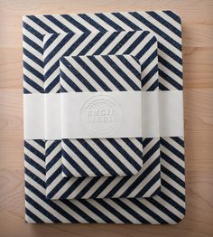Striped Denim Notebook Gift Set - Set of 3 | Gifts Cards & Stationery | Emgie Libris | Scoutmob Shoppe | Product Detail