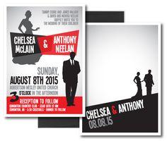 Great graphic idea for wedding invites!