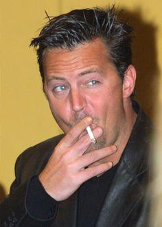 Lovin the edgy-look here Smoking Celebrities, Matthew Perry, Look Here, Edgy Look, My Crush, Smoke, Shit Happens, The Originals, People