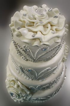 Precious Stone Themed Wedding Cake!