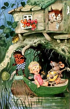 The feeling in this illustration reminds me of my childhood. Fritz Baumgarten card