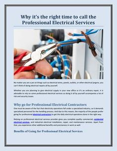 Apart from that, there are numerous other benefits of relying on a professional electrical services provider. So, here is a list of the benefits of going for expert electrician services. Let's get started!