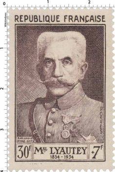 Timbre 1953 : MAL LYAUTEY 1854-1934 | WikiTimbres