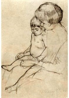 Mary Cassatt. Mother and Child Sketch. Recommended by Andrea Beaty, author of Artist Ted.