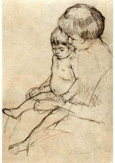 Mary Cassatt Mother and Child Art Sketch Poster Masterprint at AllPosters.com