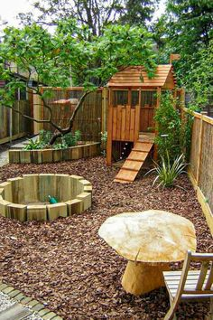 The Best Backyard Playground Ideas For Kids. Some great nature inspired play spa., Kinder Spielplatz Baumhäuser The Best Backyard Playground Ideas For Kids. Some great nature inspired play spa. Modern Backyard, Small Backyard Landscaping, Backyard For Kids, Backyard Projects, Landscaping Ideas, Small Patio, Mulch Landscaping, Playground Design, Backyard Playground