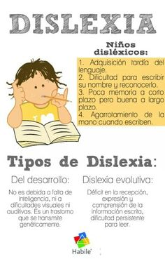 Dislexia en los Niños – Síntomas y Tipos                                                                                                                                                                                 Más Kids Education, Special Education, Learning Activities, Teaching Resources, Dyscalculia, Learning Disabilities, Psychology Facts, School Counseling, Speech Therapy