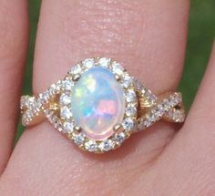 opal halo engagement rings - Google Search