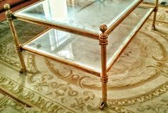 Brass coffe table