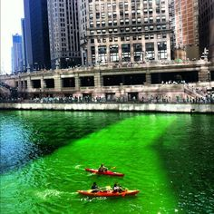 Green Chicago River on St. Patrick's Day! (2012)