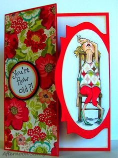 """Today's card is for the Fancy Folds Challenge over at the Art Impressions Blog . My card is what I consider a """"gate fold"""". I used the Art..."""