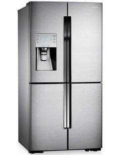 Samsung's T9000 four-door refrigerator has one quadrant that can function as either fridge or freezer...