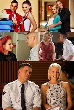 Glee Quinn and Puckerman through the seasons