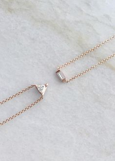 The Trillion Diamond Necklace vs The Baguette Diamond Necklace | Vrai & Oro