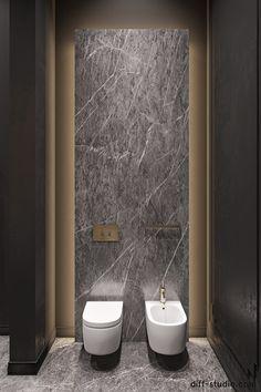 Elegance and comfort. │ Part on Behance Interior Design Process, Interior Design Photos, Kitchen Splashback Tiles, Apartment Projects, Toilet Design, Bathroom Design Luxury, Interior Decorating, Behance, Bathrooms