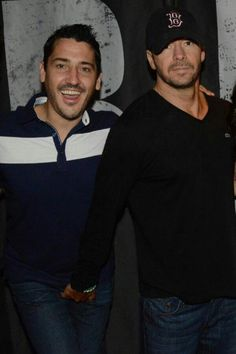 Jonathan Knight and Donnie Wahlberg (gettin' a handful.  I don't blame him!!!!)