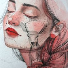 Illustrator Ana Santos Paints Fantastical Female Faces Discover...