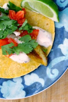 Fit Fish Tacos with Chipotle Crema