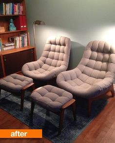 Before & After: The Fate of Sheryl's Vintage Chairs — Good Questions Revisited   Apartment Therapy