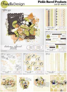 Pickleberrypop :: Bundles/Collections :: Autumn Spirit by Fanette Design | Just $1 each pack | October 17-20