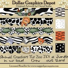 It's A Jungle Designer's Set - *DGD Exclusive* - $1.00 : Dollar Graphics Depot, Your Dollar Graphic Store