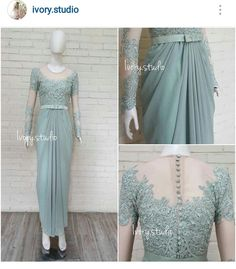 By Ivory Studio Model Kebaya Muslim, Dress Brokat Muslim, Kebaya Modern Hijab, Dress Brokat Modern, Kebaya Hijab, Kebaya Dress, Malay Wedding Dress, Kebaya Wedding, Hijab Prom Dress