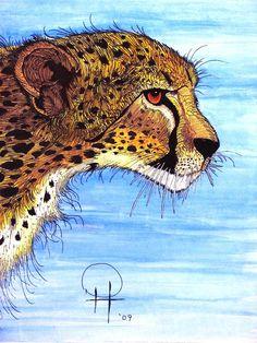 Cheetah Stalking Painting  - Cheetah Stalking Fine Art Print
