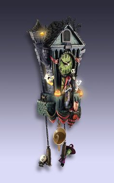 Nightmare Before Christmas Cuckoo Clock - Your Best Nightmare Before Christmas On sale for $199.95 here:   http://www.bradfordexchange.com/products/118084001_the-nightmare-before-christmas-cuckoo-clock.html?searchTerm=nightmare+cuckooN=8125
