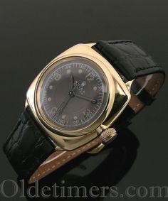 A 9ct gold cushion Rolex Oyster watch, 1938
