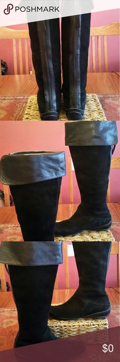 Nine West Suede Leather Boots These are in excellent condition Sharpe looking boots with rubber soles Nine West Shoes Winter & Rain Boots